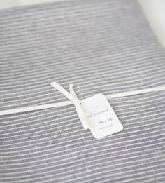 fog linen grey stripe table cloth