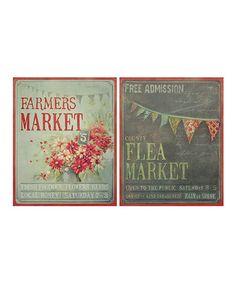 "'Farmers Market' & 'Flea Market' Canvas  -  24""W x 36""H x 1.5""D  -  Zulily  -  ($237.00)  $120.00"