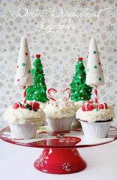 Winter Wonderland Cupcakes | Christmas Cupcakes | Holiday Cupcakes