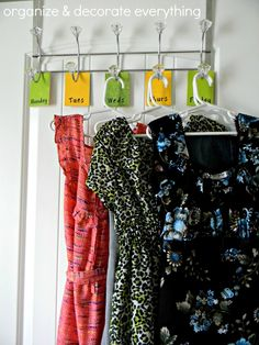 Planning Kids Clothes for the Week - Organize and Decorate Everything
