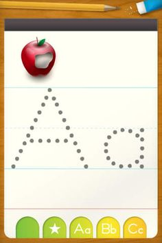 Free app ~ letter formation.  Handy!
