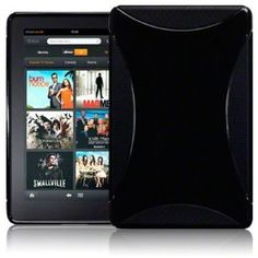 AMAZON KINDLE FIRE TPU GEL SKIN CASE - SOLID BLACK, MICROFIBRE CLEANING CLOTH! Only $3.95.
