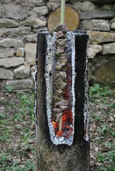 Swedish log candle by Nick Weston