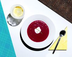 Chilled beet and carrot