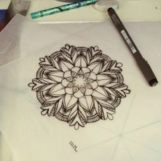 can see this being my mandala tattoo, or something similar