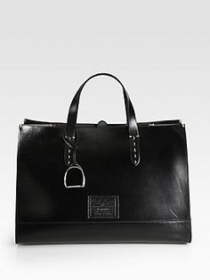 Ralph Lauren Collection Equestrian Large Saddle Tote