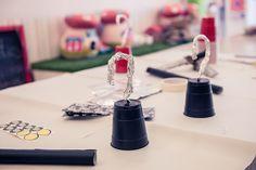Decorados idóneos para la mesa de una fiesta pirata / Ideal decorations for a pirate party table