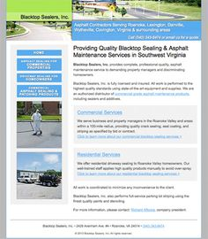 Blacktop Sealers, Inc.  Hand-coded HTML, search engine optimization, and search engine submission. engin submiss, search engine optimization, engin optim