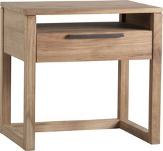 Linea 1-Drawer Nightstand  | Crate and Barrel