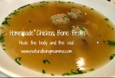 Chicken Bone Broth and Simple Meals Friday Blog Hop - Natural Living Mamma