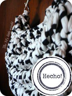 Tutorial DIY: Bolso de trapillo -- The M's little world #knitting #crochet