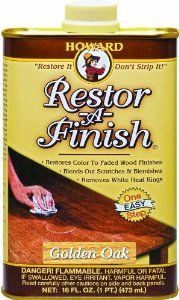Removes white rings and water marks, scratches, etc. from Wood; Furniture or Floors. Howard RF3016 Restor-A-Finish Golden Oak, 16-Ounce - Amazon.com