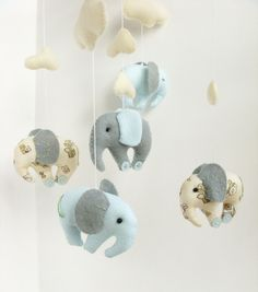 Elephant mobile by sistersdreams on Etsy.