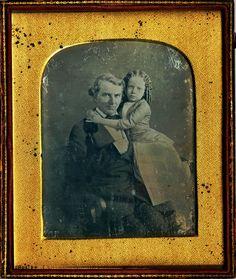 Father-daughter daguerreotype portrait 1850