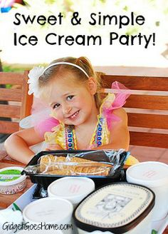 one of the best birthday party ideas- ice cream theme! Treats/snacks built into the theme along with cute themed activities and favors.