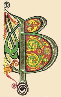 lettrines celtes ©Claire Travers