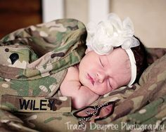 Army Newborn Baby Photoshoot great gift for dad or mom overseas while they are deployed missing family