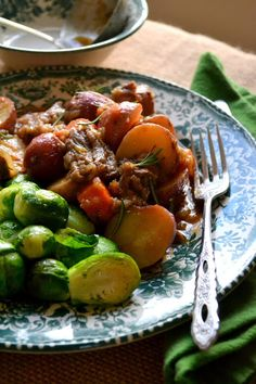 Irish Whiskey Short Rib Stew with Brussels Sprouts