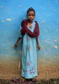 Ethiopian girl in Jinka - Ethiopia by Eric Lafforgue