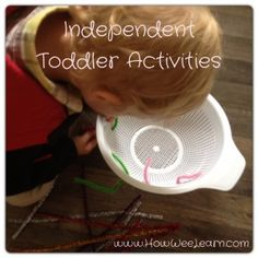 Independent Toddler Activities - they really do exist!