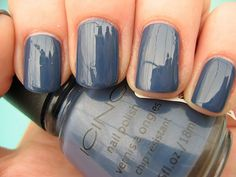 blue gray: it's my color--I love a high gloss topcoat, as well.