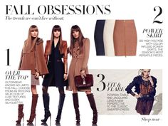 FALL OBSESSIONS  The trends we can't live without.