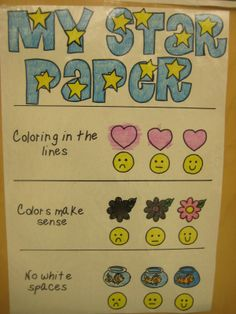 What a great visual rubric for the youngest of learners...from Kindergarten Smiles blog