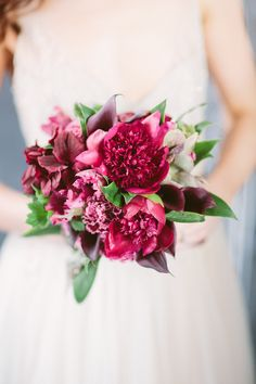 Wedding Bouquet -- SO gorgeous!!! See more of the wedding inspiration shoot on SMP, here: http://www.StyleMePretty.com/2014/05/30/a-sleeping-beauty-inspired-wedding-shoot/ Floral Design: http://www.facebook.com/BlackDahliaDesign --  Photography: AllanZepeda.com