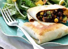 Black-Bean Stuffed Burritos