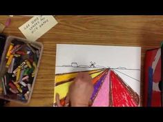 One Point Perspective - Flower Fields