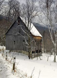 Barn In The Winter Time