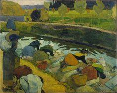 Paul Gauguin (1848-1903), Washerwomen at Arles, 1888