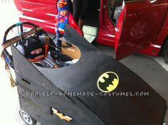 Batmobile Wheelchair Costume... Repin to spread the word and help end Menkes Disease
