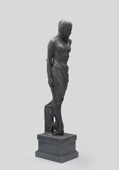 These Veiled Figures of Bronze and Marble by Kevin Francis Gray Seem to Drip with Fabric