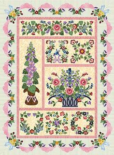 2014 Forever Blooming BOM Quilt from P3 Designs