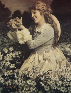 Easter Postcard featuring Birthday Girl Mary Pickford