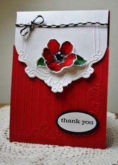 Stamps: Fabulous florets   Accessories: paper studio embossing folder, braid, su punches