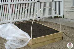 Raised Bed Garden Cover Tutorial