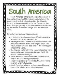 LEARNING THE CONTINENTS - FACTS, PUZZLES, & MAPS FOR ALL 7 CONTINENTS - TeachersPayTeachers.com