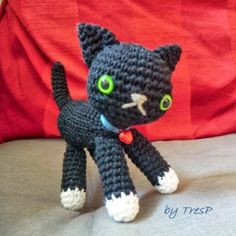 Patrones Amigurumi: Gatito negro