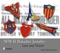 """WWII Bakelite Jewelry"" book. victori, wwii, bakelit queen, bakelit whimsi, bakelit baubl, vintag bakelit, book, beauti bakelit, bakelit jewelri"