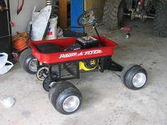Radio Flyer Red Wagon Kart 6.5HP Custom