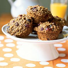Whole-Wheat, Oatmeal, and Raisin Muffins - Healthy Muffin Recipes - Cooking Light