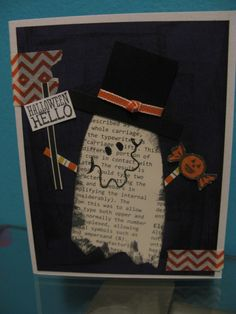 card idea, halloween cards, paper, stampin up ghost