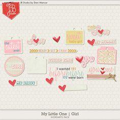 My Little One: Girl Wordarts by JB Studio