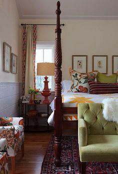 Sarah Richardson - love the fabrics, especially on the chairs.