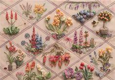beautiful ribbon embroidery garden