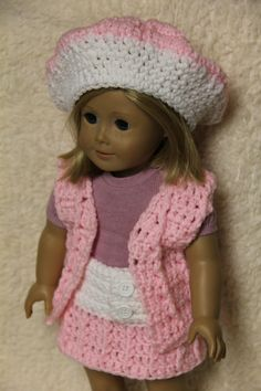 American Doll Crochet Patterns Free | item 154 american girl doll outfit american girl doll outfit consist ...
