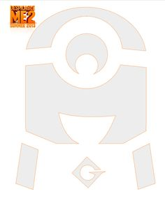 Despicable Me pumpkin carving template - click to download!