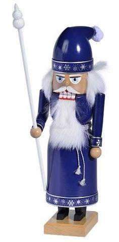 2013 KWO Arctic Santa Wooden German Christmas Nutcracker Decoration Made Germany